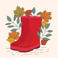 Vettore degli stivali di gomma di Wellies