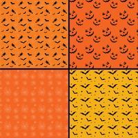 Sfondi senza giunte di Halloween delle mattonelle vettore