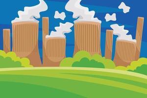 illustrazione vettoriale di centrale elettrica