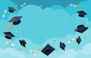 tappi di laurea in aria vettore