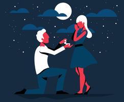 Coppia nell'illustrazione di amore vettore