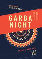 Notte Garba vettore