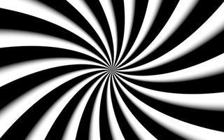 sfondo a spirale in bianco e nero vorticoso modello radiale illustrazione vettoriale astratta