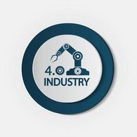 concetto di tecnologia dell'icona di industria 4 0 vettore