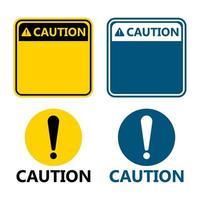 simbolo giallo attenzione segno icona punto esclamativo avviso icona pericolosa su sfondo bianco vettore