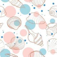 freschezza vibes conchiglie seamless pattern vettore