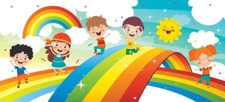 concetto di un arcobaleno colorato vettore
