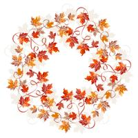 Corona di foglie acquerello vettoriale