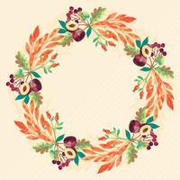 vettore acquerello corona d'autunno