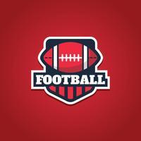 Emblema del football americano vettore