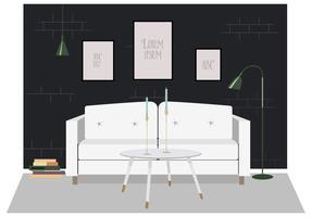 Illustrazione di mobili soggiorno vettoriale