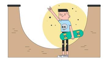 vettore di trucco da skate