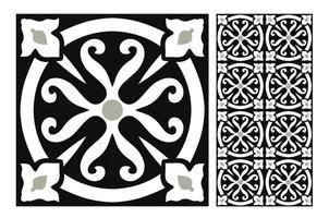 modelli di piastrelle d'epoca antico design senza soluzione di continuità vettore
