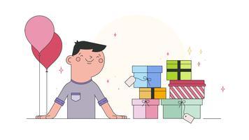 Vettore del regalo di compleanno