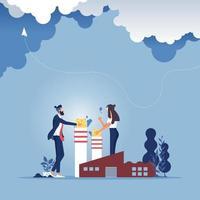concetto di ambiente aziendale. fermare l'inquinamento atmosferico vettore