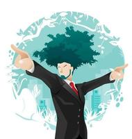 vettore di concetto di business verde