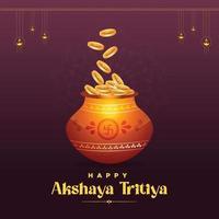 banner design del saluto del festival di akshaya tritiya vettore