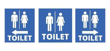 segni di servizi igienici maschili e femminili vettore