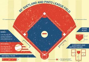 Progettazione di vettore di Infographic del parco di baseball