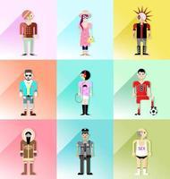 set di vettore di avatar di persone