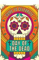 giorno colorato del poster morto
