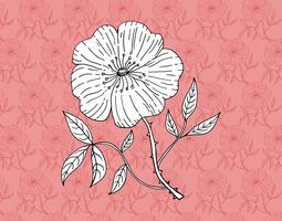 carta da parati retro fiore vettore