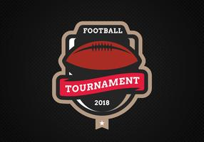 Emblema del football americano moderno vettore