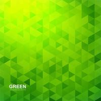 Bellissimo sfondo verde poligono vettore
