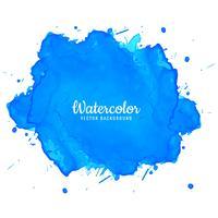 Elegante inchiostro blu acquerello vettore