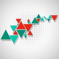 Priorità bassa del triangolo colorato astratto poligono vettore