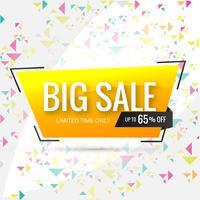 Vendita modello di banner design, Grande vendita speciale fino al 65% di sconto vettore