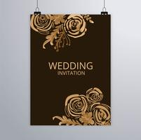 Design elegante brochure matrimonio astratto