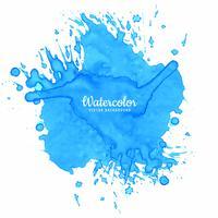 Spruzzata blu acquerello sfondo vettore