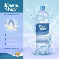 illustrazione di vettore della composizione pubblicitaria di acqua potabile