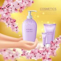 sakura colorato flyer illustrazione vettoriale