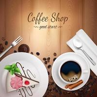 illustrazione di vettore del fondo della caffetteria superiore