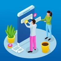 interfaccia grafica creando illustrazione vettoriale concetto