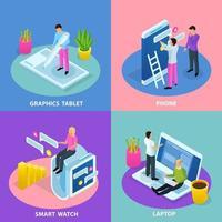 illustrazione di vettore di concetto di progettazione dell'interfaccia utente