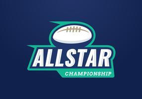 Emblema del campionato All Star vettore