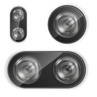 vettore di fotocamera obiettivo smartphone fotocamera obiettivo realistico