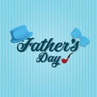 illustrazione vettoriale di giorno di padri su sfondo piatto