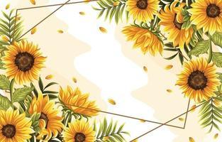 fiore tropicale e foglie di sfondo vettore