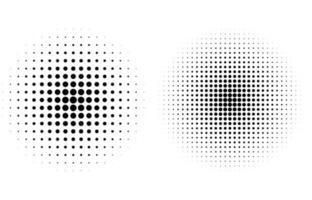 sfondo stile fumetto di punti circolari mezzitoni vettore