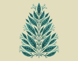 Disegno di foglie botaniche vettore