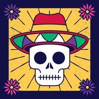 Cranio Il giorno dell'illustrazione vettoriale di morte