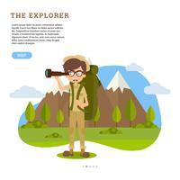 Vettore di Nature Explorer