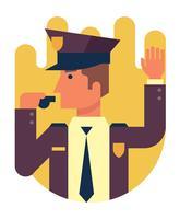 Illustrazione di ufficiale di polizia vettore