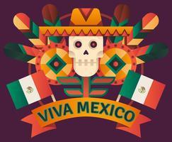 Illustrazione di Viva Mexico vettore