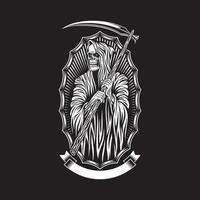 grafica vettoriale di Grim Reaper sul nero