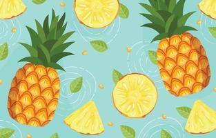 sfondo di ananas fresco vettore